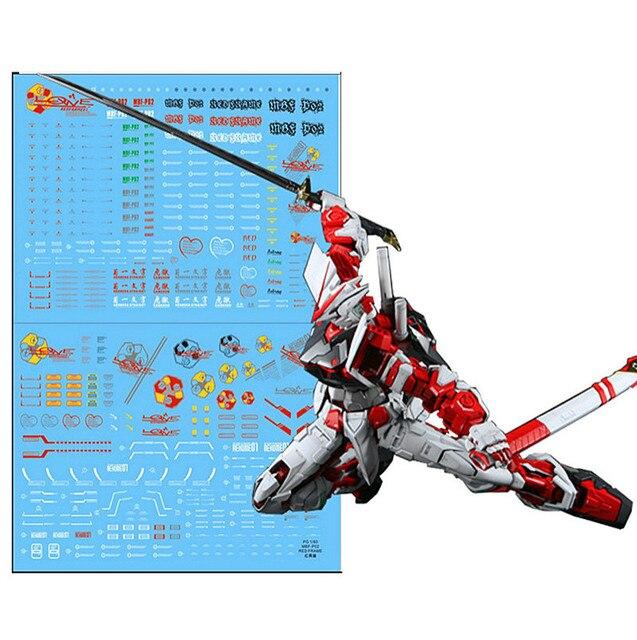Adhesivo de agua de alta calidad D.L para Bandai PG 1/60 MBF P02 marco rojo Astray Gundam DL035