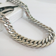 Cuban Style Accessory Stainless Steel Metal Necklace Men Custom Length Good Quality New Arrival Wholesale Friend's Best Gift good quality wholesale