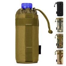 Многоцелевой 550 мл Чайник пакет Свет Нейлон Камуфляж MOLLE Открытый Многофункциональный Висит сумка Тактика мешок Для Воды