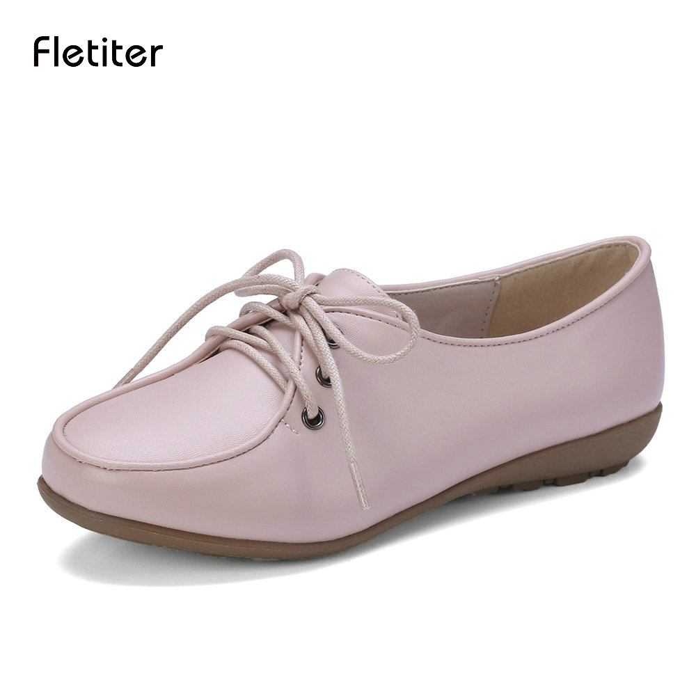 Fletite 2018 New Quality Handmade Flats Women Shoes Spring Women Flat Heel Soft Loafers Women Genuine Leather Shoes Zapato mujer veowalk extreme low top women casual linen cotton loafers handmade vintage ladies canvas walking hemp flat shoes zapato mujer