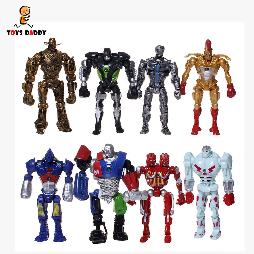 New sale 13 cm 8pcs/set armored steel fist Adam Duracell raider non JAKKS robot model toys gift action figure free shipping lady bug dolls