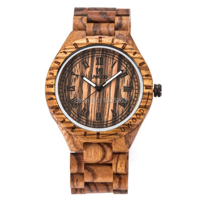 Naujas atvykimo derliaus dizainas vyrų verslo žiūrėti medienos - Vyriški laikrodžiai - Nuotrauka 5