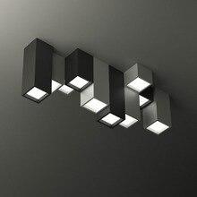 Современный короткий акриловый креативный геометрический комбинированный светодиодный потолочный светильник домашний декор DIY на заказ различные квадратные потолочные лампы
