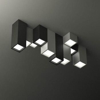 Modern brief acrylic creative geometric combination  LED ceiling light fixture home deco DIY custom various square ceiling lamp