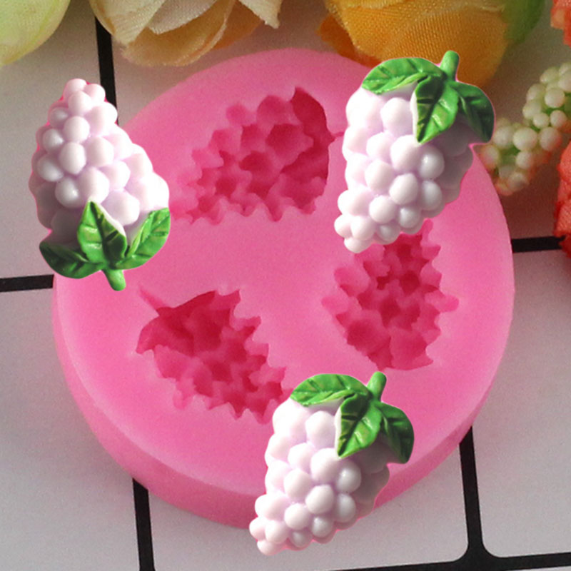 Mujiang hroznové silikonové formy 3D ručně vyráběné mýdlové formy fondant dort dekorace formy pro čokoládové bonbóny Gumpaste Fimo hliněné formy