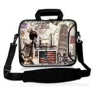 13 Shoulder Notebook Computer Zipper Cases Bag For Apple Mac Book Air Unisex USA Stamp Laptop