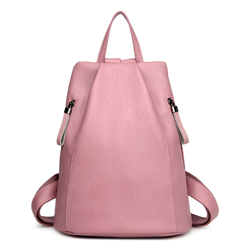 Women Bag Fashion Simple Style Leather School Bag Backpack for Teenage Girls Mochila Feminina Rucksack Vintage Casual Travel Bag vintage casual small women printing backpack ladies casual preppy style school bag teenager girls female travel rucksack mochila