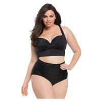 Large Size Bikinis Retro Swimsuit High Waist Swimwear Women Push Up Biquini Female Bathing Suit Lady
