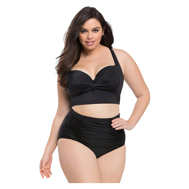 Large Size Bikinis Retro Swimsuit High Waist Swimwear Women Push Up Biquini Female Bathing Suit Lady Plus Size Swimming Suit