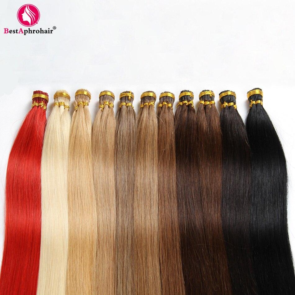 Aphro Hair Brazilian Straight Hair Keratin I Tip Hair Extensions 0 5g s 18 24 Non