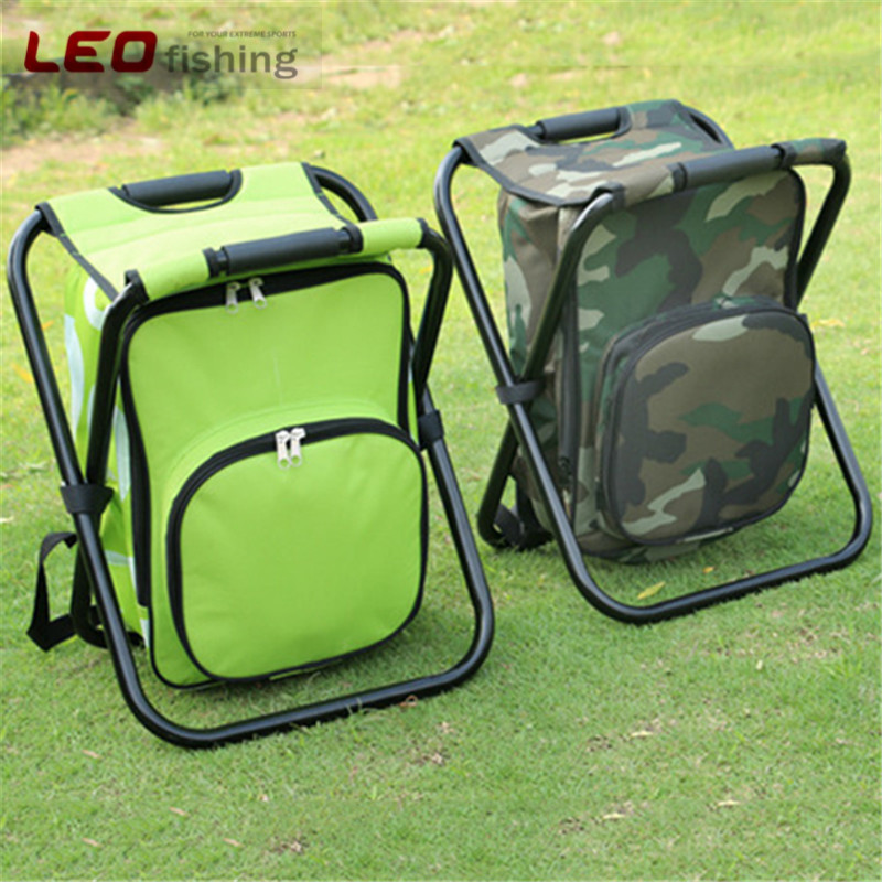 36x31x44CM 3 in 1 Backpack Fishing Stool Chair Foldable Portable Cooler Bag Chair for Outdoor Sports Fishing
