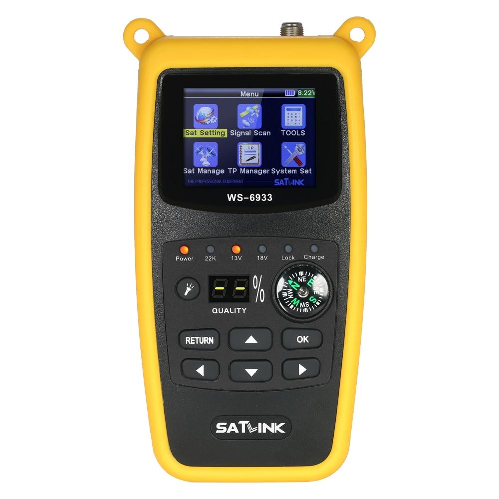 SATLINK WS6933 Digital Satellite Finder Meter with Compass Digital Satellite Signal Finder Meter with LCD Display цена