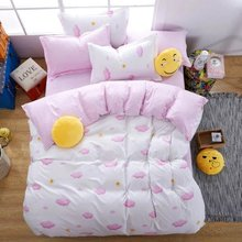 Розовый двойной кровать зима утолщение темных облаков постельные принадлежности набор король дети размер модное одеяло пододеяльник adulte