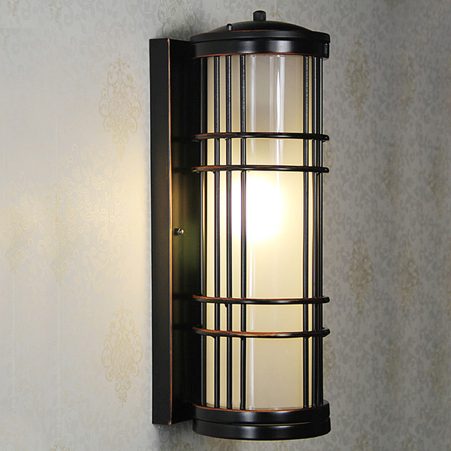 Garden path lighting lantern wall lights outdoor fence lighting outdoor garden lights retro vintage outdoor balcony
