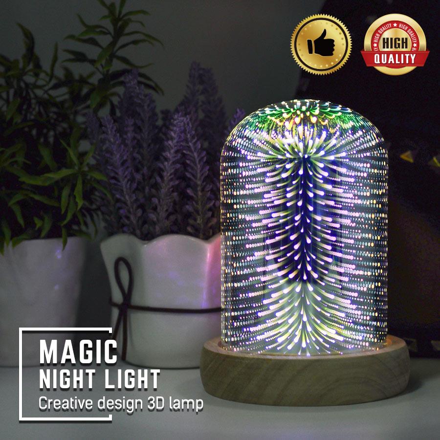 3D LED Desk Lamp DC 5V 5W USB Charging Magic Night Light Creative Design 3D Lighting Fairy LED Light Lamp Stylish Table Lamp|Desk Lamps| |  -
