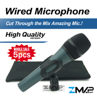 Free Shipping 5pcs High Quality E845 Professional Dynamic Super Cardioid Karaoke Vocal Wired Microphone Microfone Microfono
