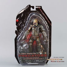 "Hot sale NECA Predator Movie Series 1 character Predator  Action Figure PVC Toys 8"" Retail Free Shipping"