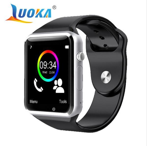 imágenes para LUOKA Reloj Bluetooth Inteligente Reloj Deportivo Podómetro Con SIM Cámara Smartwatch Para Android Smartphone de Rusia T50