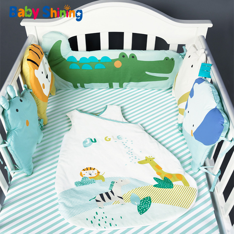Baby Shining Newborn Baby Bed Bumper INS All Size Cotton Crib 1 8m Bumper Kids Bed