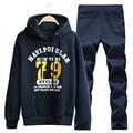 Men Tracksuit Man Sweatshirt Set Warm Sportwear Printed Hoodies Male Track Suit Plus Size 4xl