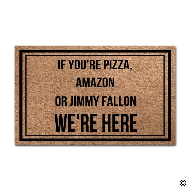 Entrance Floor Mat Funny Door Mat If You\u0027re Pizza Amazon Or Jimmy  sc 1 st  AliExpress.com & Entrance Floor Mat Funny Door Mat If You\u0027re Pizza Amazon Or Jimmy ...