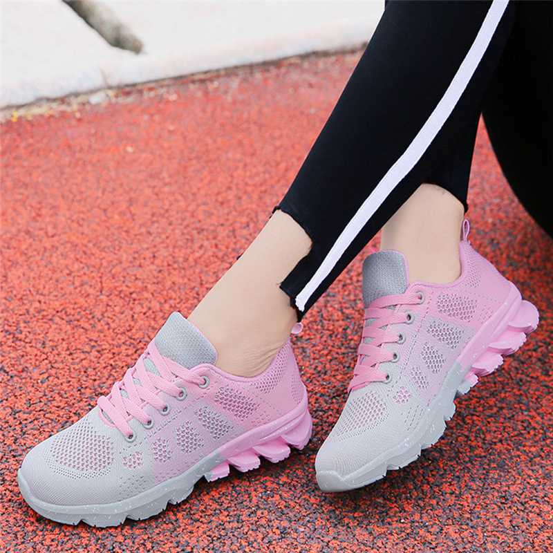 цены Women shoes 2018 fashion spring Air Mesh flats lace up ladies shoes woman sneakers zapatos mujer tenis feminino casual shoes