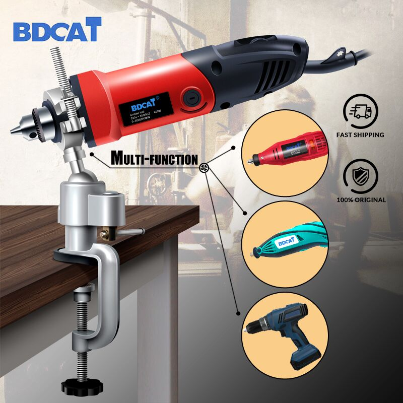 BDCAT Dremel Grinder Accessory Electric Drill Stand Holder Bracket Used For Dremel Mini Drill Multifunctional Die Grinder