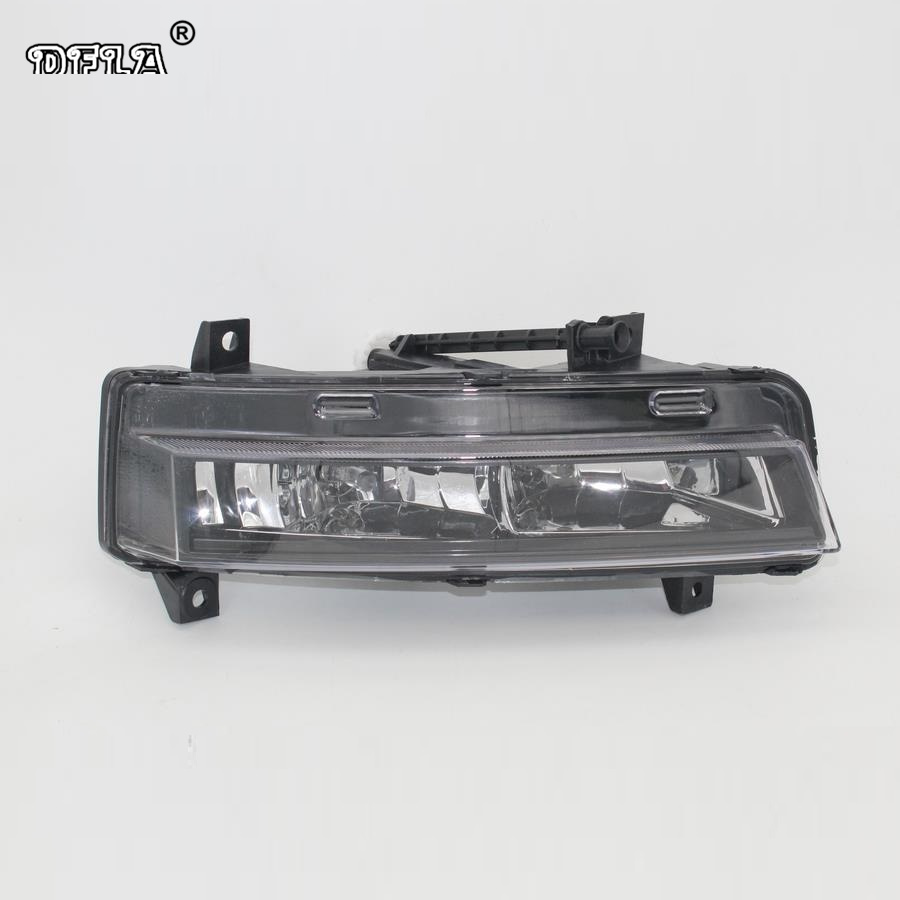 Left Side Car Light For Skoda Octavia A7 Sedan RS Combi RS 2013 2014 2015 2016 2017 Car-Styling Front DRL Fog Lamp Fog Light skoda mqb octavia 4pcs high quality stainless steel car glass elevator button box for octavia a7 2014 2015