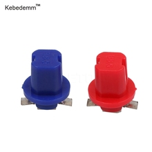 Kebedemm 20pcs Newest Car Gauge Bulb Dashboard instrument Light Unviersal B8.5D 509T B8.5 5050 Led 1 SMD T5 Lamp 5 colour(China)