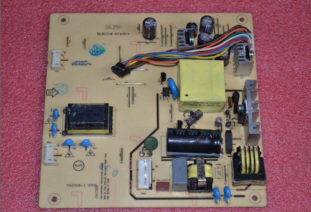 Free Shipping> L1506  L1506 high-voltage power supply board 15-inch board power board 715G1508-Original 100% Tested Working free shipping l2045w high voltage power supply board board 0626d0263 original 100% tested working