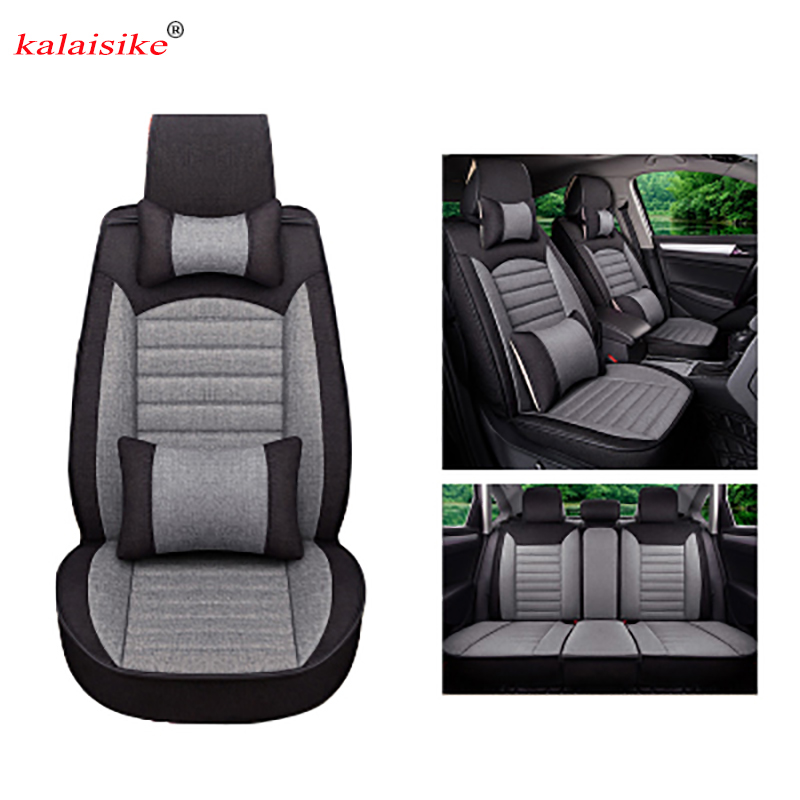 цена на Kalaisike Flax Universal Car Seat covers for Opel all models Astra g h Antara Vectra b c zafira a b car styling auto accessories