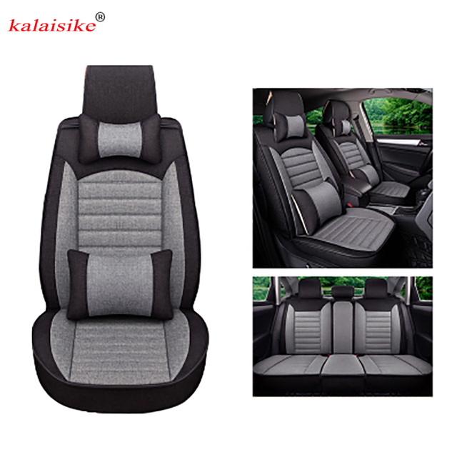 Kalaisike Flax Universal Car Seat covers for Opel all models Astra g h Antara Vectra b c zafira a b car styling auto accessories