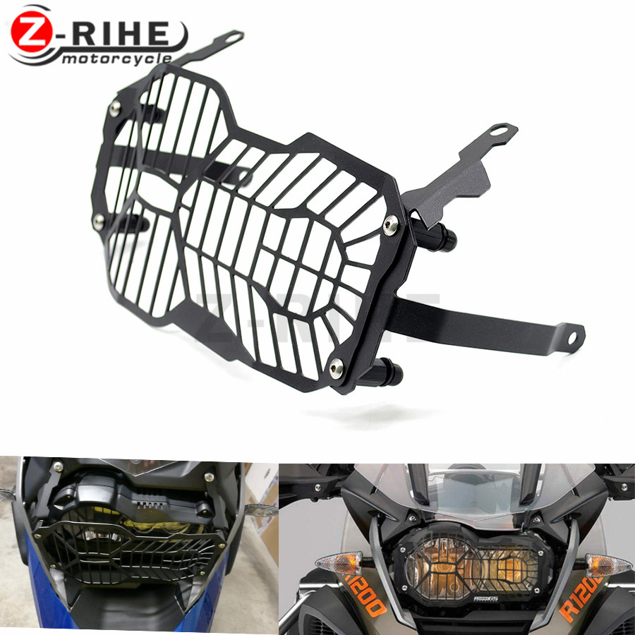 for Motorcycle Headlight Grille Guard Cover Protector For BMW R1200 GS R1200GS ADV Adventure R 1200GS (Water Cooled) 2012-2016 gs motorcycle decal kit r1200 world adventure map for touratech panniers
