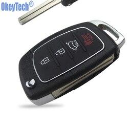 OkeyTech 3 + 1 4 przyciski samochód składany pilot zdalnego sterowania klucz Shell Fob pokrowiec na Hyundai Mistra Santa Fe Sonata Tucson akcent i30 I40 I45