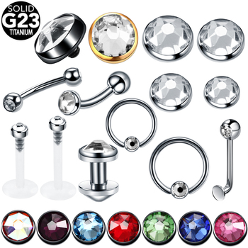1PC Titanium Gem Dermal Anchor Top Piercing Sexy Vagina Eyebrow Labret Lip Helix Piercings Ear Cartilage Tragus Piercing Jewelry