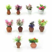 1/12 puppenhaus Miniatur Zubehör Mini Topfpflanze Simulation Blume Modell Spielzeug Puppe Haus Dekoration