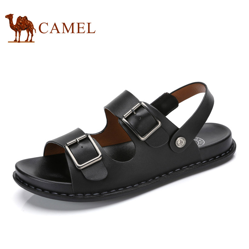 Camel 2018 Summer Cool Mens Casual Breathable Antiskid Cushioning Buckle Sandals Two Ways Exposed Toe Sandals A722210072
