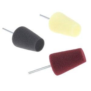 Image 2 - Yetaha 1 Uds forma de cono almohadilla de esponja de pulido espuma de pulido almohadillas de pulido para tapacubos de coche herramienta accesorios de limpieza de coche