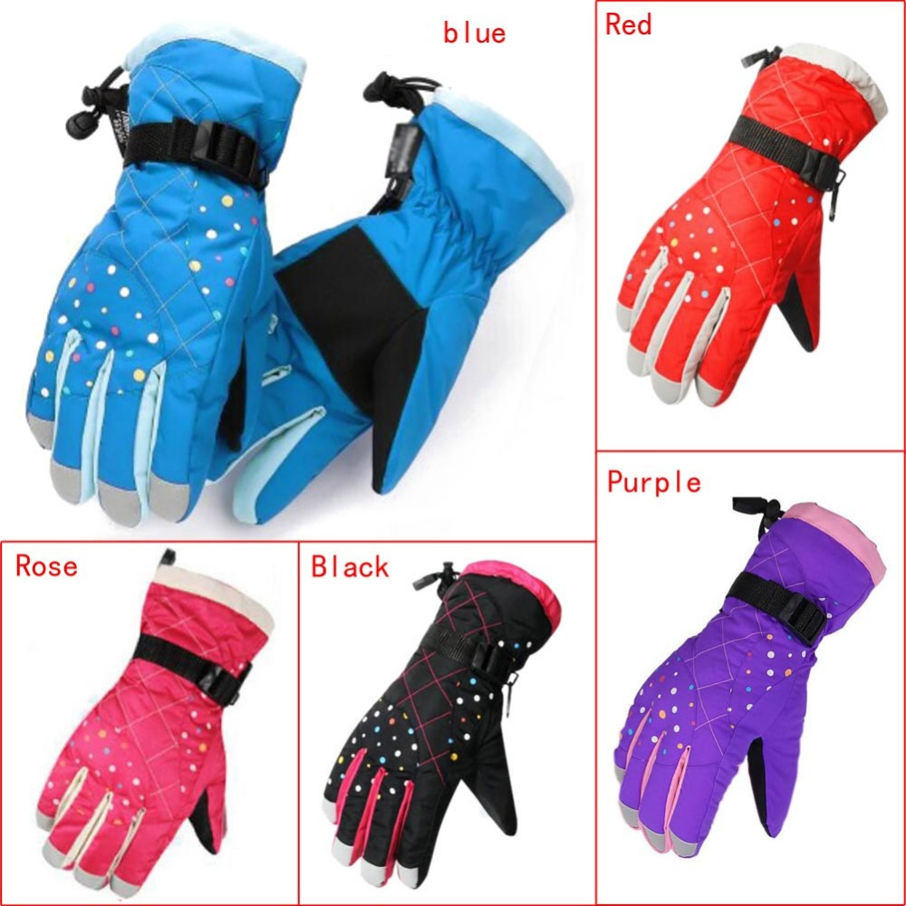 Winter Waterproof Windproof Gloves Snow Gloves Ski Warm Full Finger Ski Gloves For Outdoor Motorcycle Cycling Kids Women