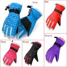 Зимние водонепроницаемые ветрозащитные перчатки, перчатки для катания на лыжах, теплые перчатки для катания на лыжах на открытом воздухе, для езды на мотоцикле, для детей и женщин