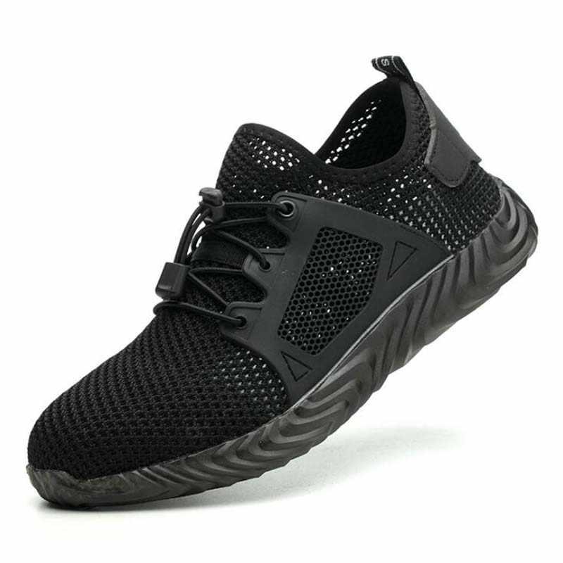 Erkek Açık Nefes Örgü Hafif ve Rahat Çelik Ayak Koruyucu iş ayakkabısı Botları Erkekler Yaz Delinme Geçirmez Güvenlik Ayakkabıları