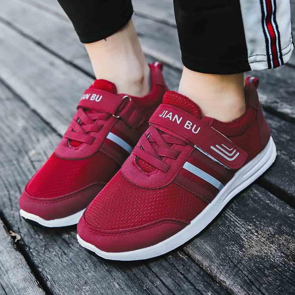 c12ba21d8fa74a Air Respirant Unique Noir Plates Ressort Coussin Chaussures 2019 Mujer  Casual rouge Dames Avec Femmes Zapatos ...