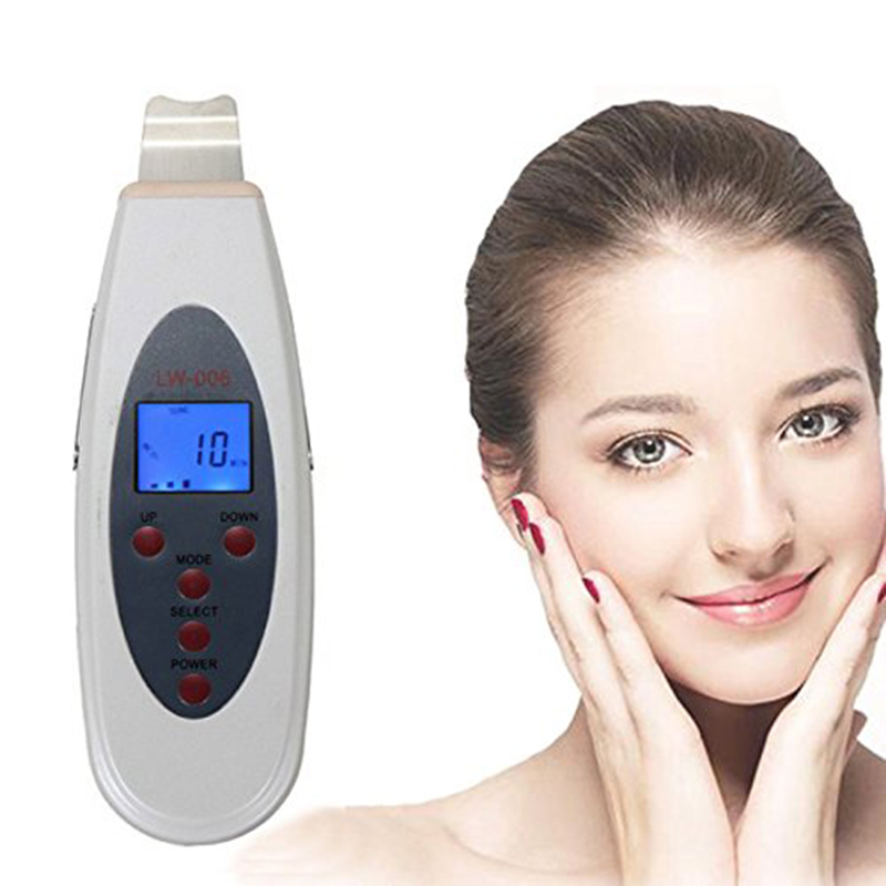 Ultrasonic Skin Scrubber Spatula Gentle Peeling Skin Clean Facial Pore Ion Therapy Face Lifting Infusion Exfoliation Extractions