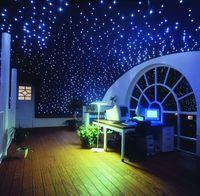 Maykit 50000 h 12 V DC 16 W LED Yıldızlı Tavan Kitleri Fiber Optik Dekorasyon 200 adet 2.0 m Sparkle Fiber çocuk Odası Için