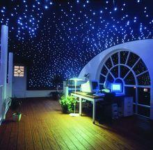 Maykit 50000h 12V DC 16W LED Starry Ceiling Kits Fiber Optic Decoration 200pcs 2.0m Sparkle Fiber For Children's Room