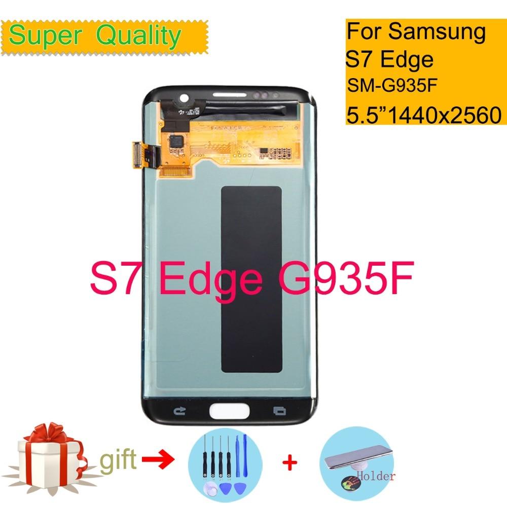 5.5 ''SUPER AMOLED pour SAMSUNG Galaxy S7 Edge G935 G935F SM-G35F écran LCD écran tactile numériseur capteur assemblage complet