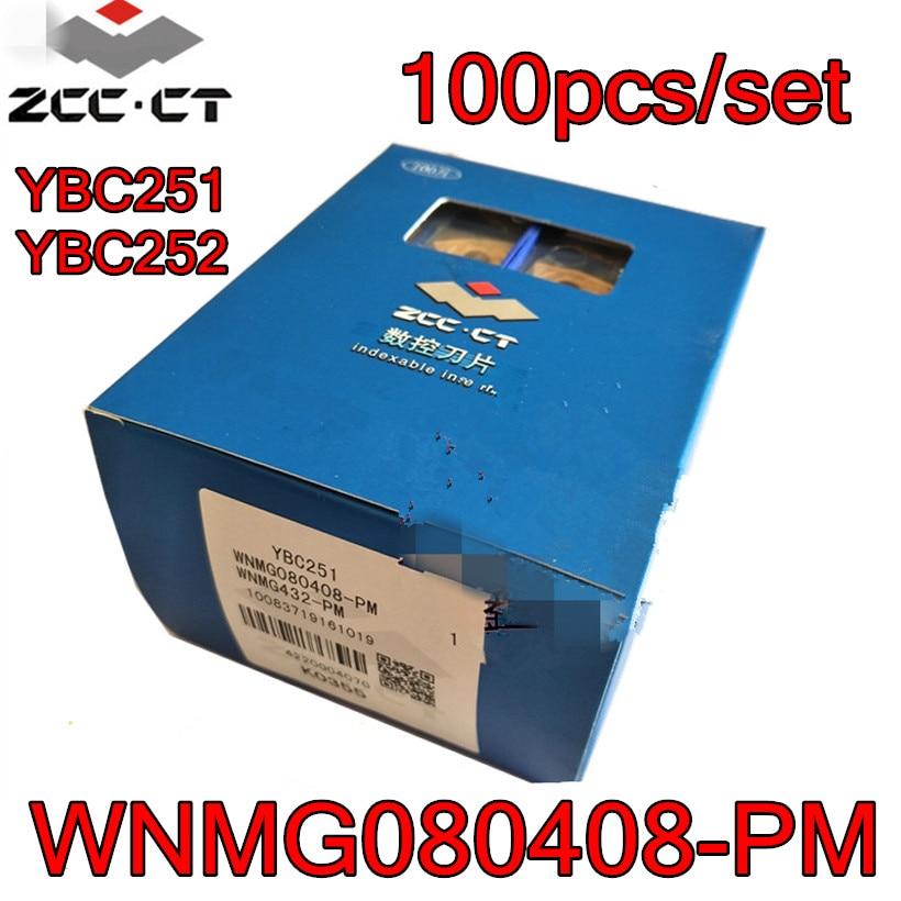 WNMG080408 PM YBC251 YBC252 100 ピース/セット ZCC. CT CNC 超硬インサート処理: 鋼送料無料  グループ上の ツール からの ターニングツール の中 1