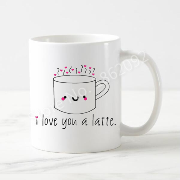 Kawaii I Love You A Latte Coffee Mug Cute Funny Love Quote Tea Cup Mugs Novelty Gifts For Dad Mom Nanny Valentine Ceramic 11oz A Cup Latte Coffee Mugstea Cup Aliexpress