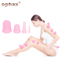 OPHAX Brand Factory Family Body Massage Helper 4Pcs Set Promote Blood Circulation Anti Cellulite Vacuum Silicone