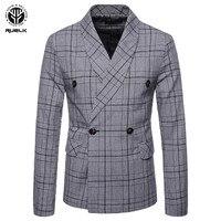 RUELK 2018 New Autumn Winter Casual Men Blazer Cotton Slim England Suit Blaser Masculino Male Jacket Blazer Men Size M 4XL